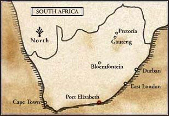 Map Camp Figtree Colonial African Lodge in Addo  Cacadu (Sarah Baartman)  Eastern Cape  South Africa