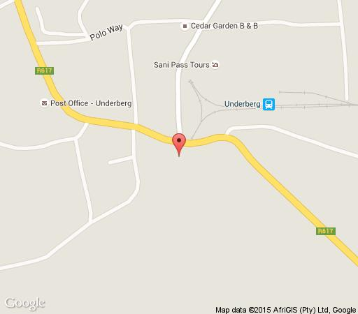 Map JW Cottages in Himeville  Southern Drakensberg  Drakensberg (KZN)  KwaZulu Natal  South Africa