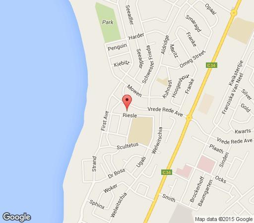 Map Maggie\'s Self Catering in Swakopmund  Erongo  Namibia