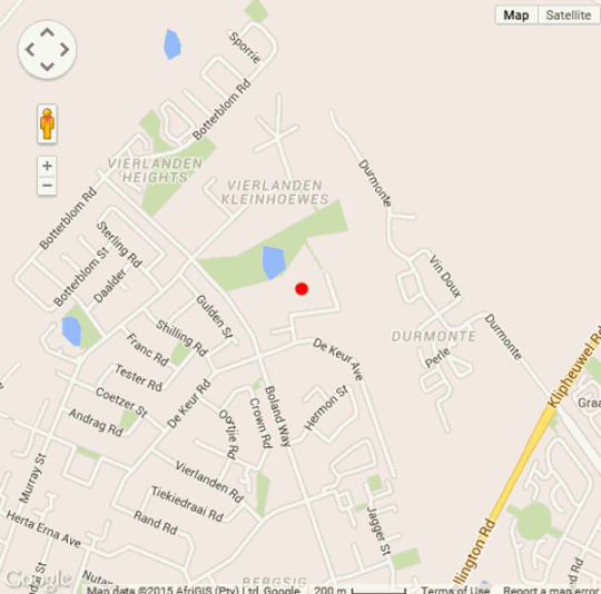 Map 10 De Dam in Durbanville  Northern Suburbs (CPT)  Cape Town  Western Cape  South Africa