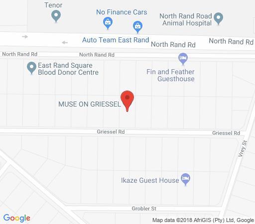 Map Muse on Griessel in Boksburg  Ekurhuleni (East Rand)  Gauteng  South Africa