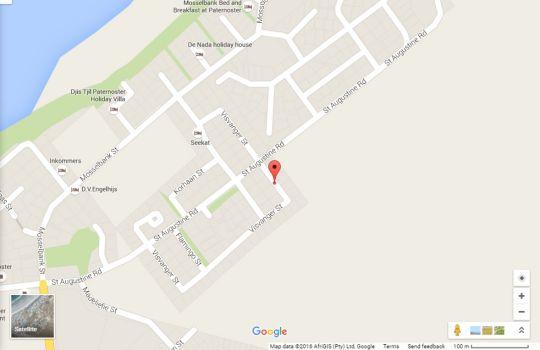 Map Visvanger in Paternoster  West Coast (WC)  Western Cape  South Africa
