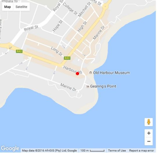 Map The Gallery Studios in Hermanus  Overberg  Western Cape  South Africa