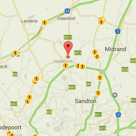 Map Nabik Private Residence in Lonehill  Sandton  Johannesburg  Gauteng  South Africa