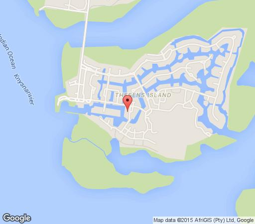 Map Thesen Island Villa in Knysna  Garden Route  Western Cape  South Africa
