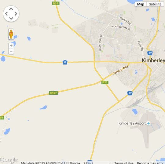 Map Mein Heim Estate in Kimberley  Diamond Fields  Northern Cape  Suid-Afrika