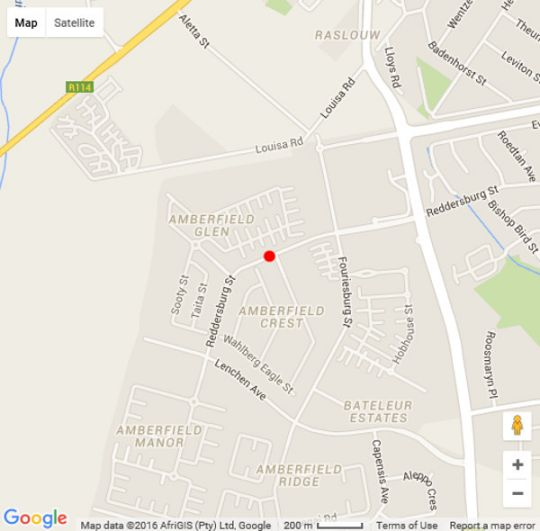 Map 4 You Self-catering Accommodation in Rooihuiskraal North  Centurion  Pretoria / Tshwane  Gauteng  South Africa