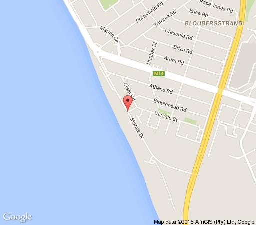 Map windRush in Bloubergstrand  Blaauwberg  Cape Town  Western Cape  South Africa