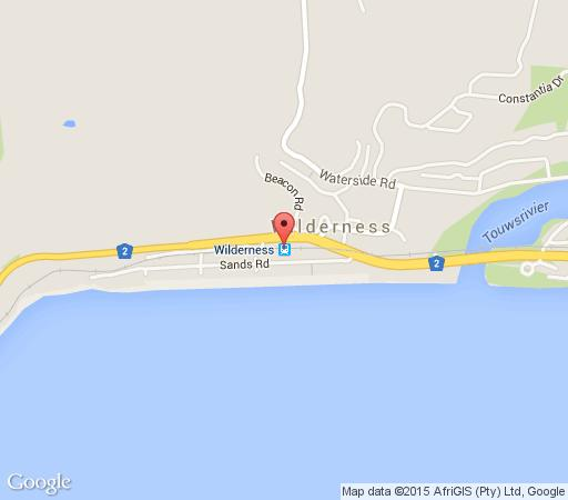 Map Wilderness Beach Hotel in Wilderness  Garden Route  Western Cape  South Africa