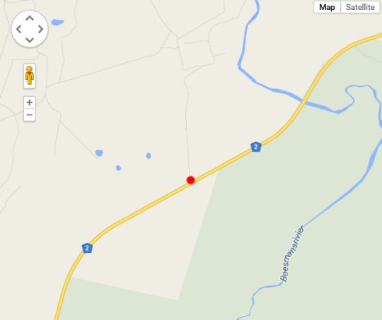 Map Carnarvon Dale Lodge in Addo  Cacadu (Sarah Baartman)  Eastern Cape  South Africa
