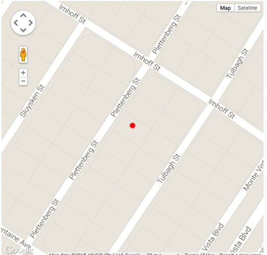 Map Gazzard Cottage in Monte Vista  Northern Suburbs (CPT)  Cape Town  Western Cape  South Africa