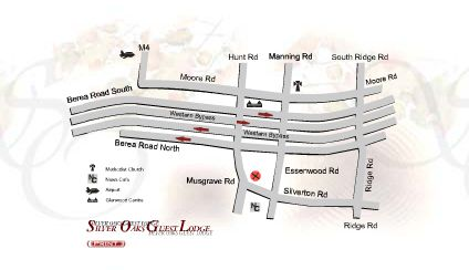 Map Silver Oaks Boutique Hotel in Musgrave  Durban  Durban and Surrounds  KwaZulu Natal  Afrique du Sud