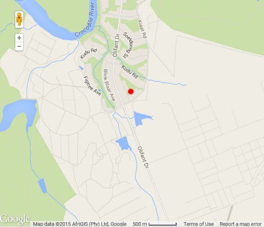 Map Umvangazi Rest in Marloth Park  Kruger National Park (MP)  Mpumalanga  South Africa