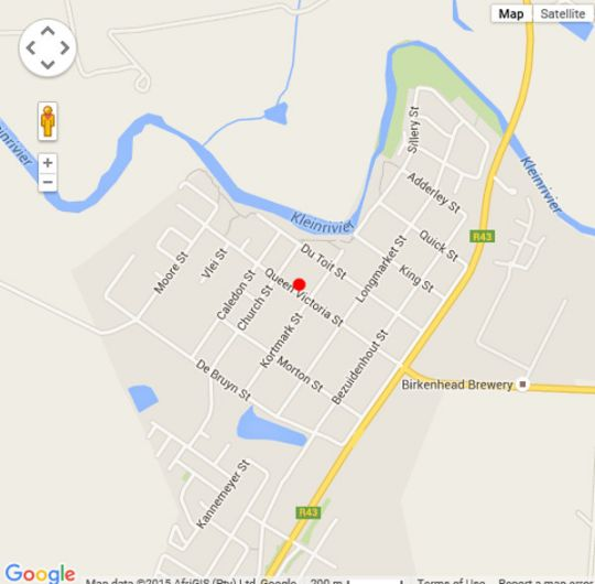 Map Overberg Gems-The Little Farmhouse in Stanford  Overberg  Western Cape  South Africa