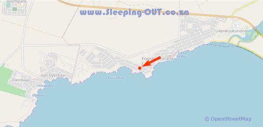 Map Kormorant in Franskraal  Overberg  Western Cape  South Africa