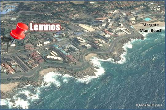 Map Lower Lemnos in Margate  South Coast (KZN)  KwaZulu Natal  South Africa