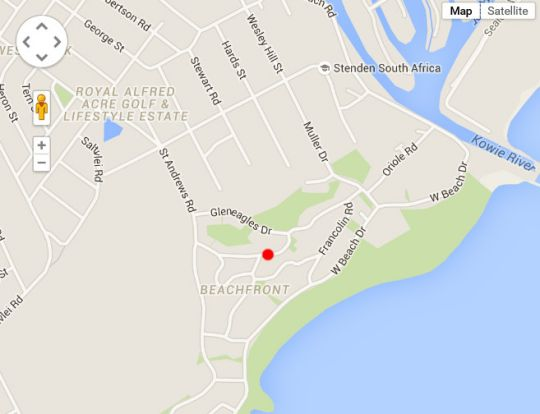 Map 1 Milkwood in Port Alfred  Cacadu (Sarah Baartman)  Eastern Cape  South Africa