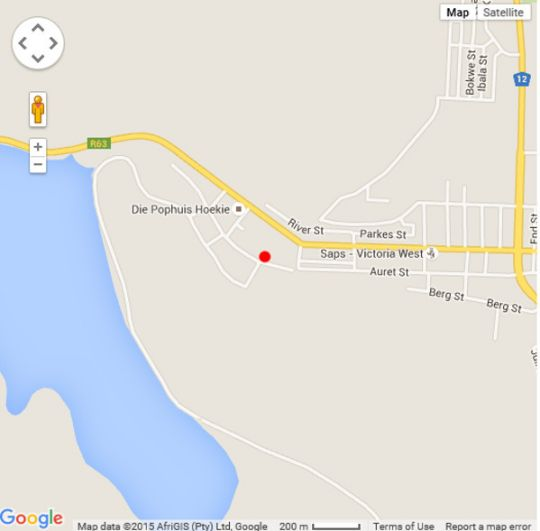 Map Moonlight Manor in Victoria West  Upper Karoo  Northern Cape  South Africa