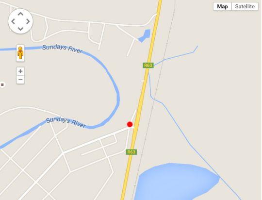 Map Jesa Guesthouse & Camping Grounds in Graaff-Reinet  Cacadu (Sarah Baartman)  Eastern Cape  South Africa