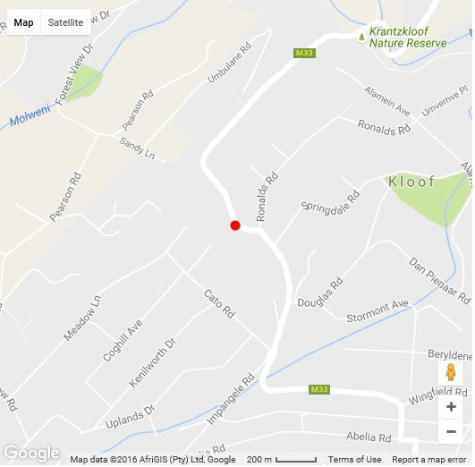 Map Madadeni Retreat and B&B in Kloof  Western Suburbs (DBN)  Durban and Surrounds  KwaZulu Natal  South Africa