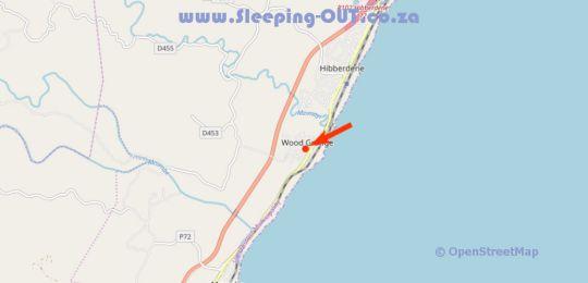 Map Woodgrange Garden Cottages in Hibberdene  South Coast (KZN)  KwaZulu Natal  South Africa