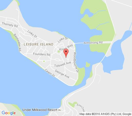 Map Die Insel in Knysna  Garden Route  Western Cape  South Africa