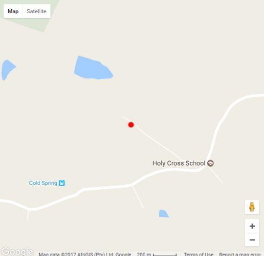 Map Coldsprings Lodge in Grahamstown  Cacadu (Sarah Baartman)  Eastern Cape  South Africa