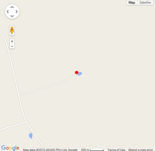 Map Springwater Cottages in Ficksburg  Thabo Mofutsanyana  Free State  South Africa