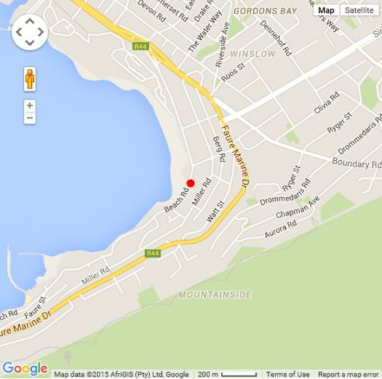 Map The Anchorage No.3 in Gordon's Bay  Helderberg  Western Cape  South Africa