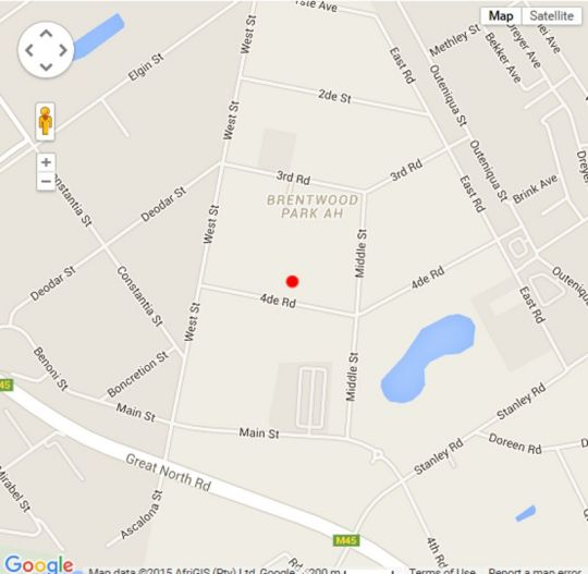 Map Nimbati Lodge in Benoni  Ekurhuleni (East Rand)  Gauteng  South Africa