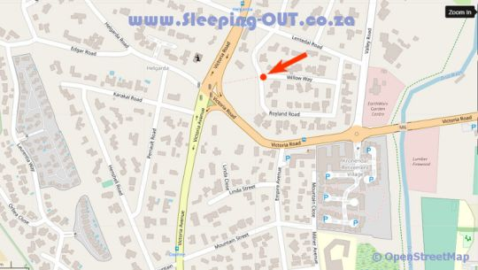 Map Christine\'s Cosy Cottage in Hout Bay  Atlantic Seaboard  Cape Town  Western Cape  South Africa