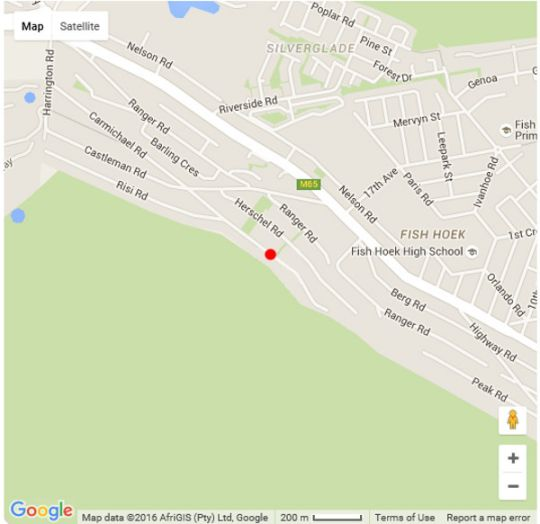 Map Charming Bachelor Pad  in Fish Hoek  False Bay  Cape Town  Western Cape  South Africa