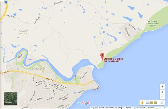 Map Stokkies & Skulpies in Sunrise on Sea  East London  Amatole  Eastern Cape  South Africa