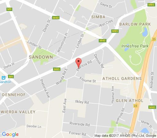 Map Insignia Luxury Apartments in Sandown  Sandton  Johannesburg  Gauteng  South Africa