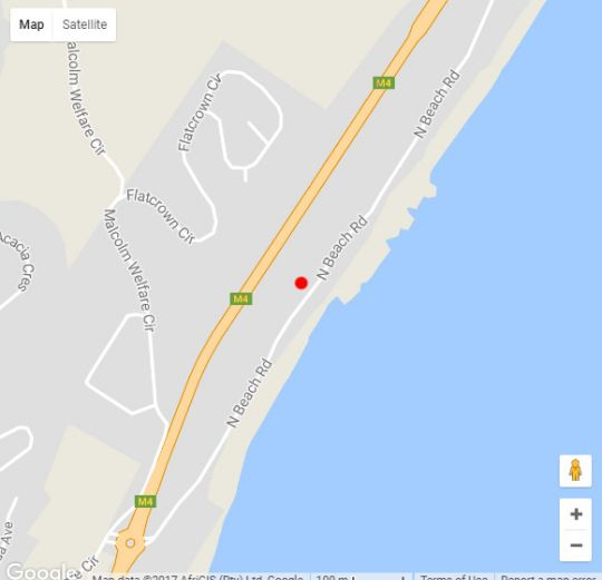 Map Sunrise Beach View in Westbrook  North Coast (KZN)  KwaZulu Natal  South Africa