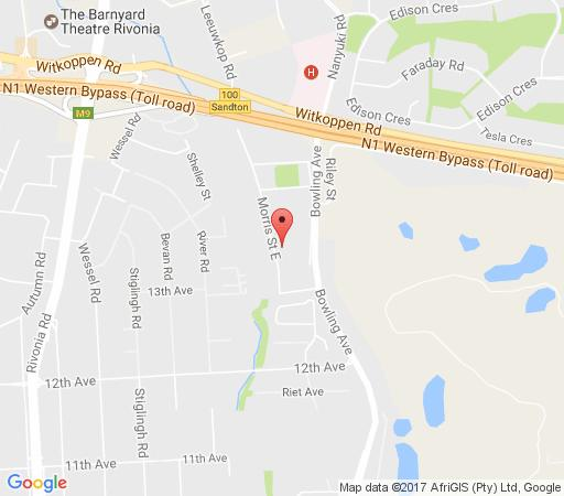 Map  6 On Morris Guest Lodge in Woodmead  Sandton  Johannesburg  Gauteng  South Africa
