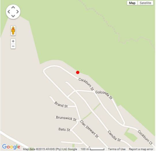 Map Self-catering Holiday Apartment in Glencairn  False Bay  Cape Town  Western Cape  South Africa