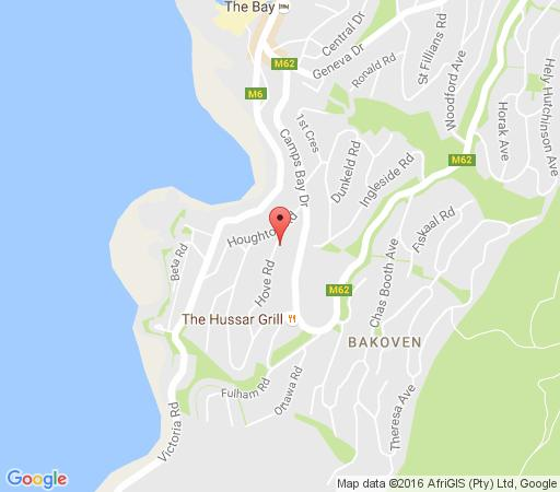 Map Retreat on Hove in Camps Bay  Atlantic Seaboard  Cape Town  Western Cape  South Africa