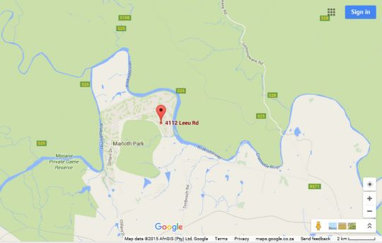 Map 4112 Leeu in Marloth Park  Kruger National Park (MP)  Mpumalanga  South Africa