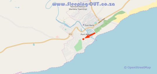 Map Royal St. Andrews Hotel in Port Alfred  Cacadu (Sarah Baartman)  Eastern Cape  South Africa