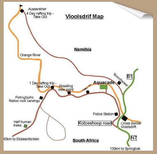 Map Orange River Rafting Lodge in Vioolsdrift  Namakwaland  Northern Cape  South Africa