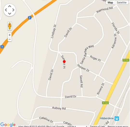 Map Summit Self-Catering Unit in Hibberdine  South Coast (KZN)  KwaZulu Natal  South Africa