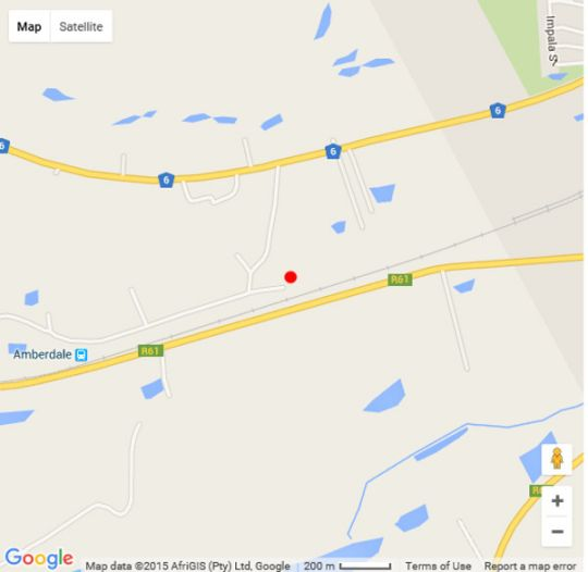 Map Lodge Linga Longa in Queenstown  Stormberg District  Eastern Cape  South Africa