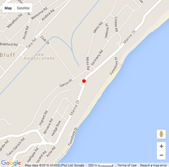 Map Marais Manor in Bluff  Durban  Durban and Surrounds  KwaZulu Natal  South Africa
