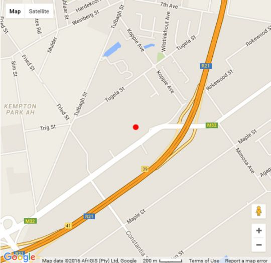 Map Malandela Guest Manor in Kempton Park  Ekurhuleni (East Rand)  Gauteng  South Africa