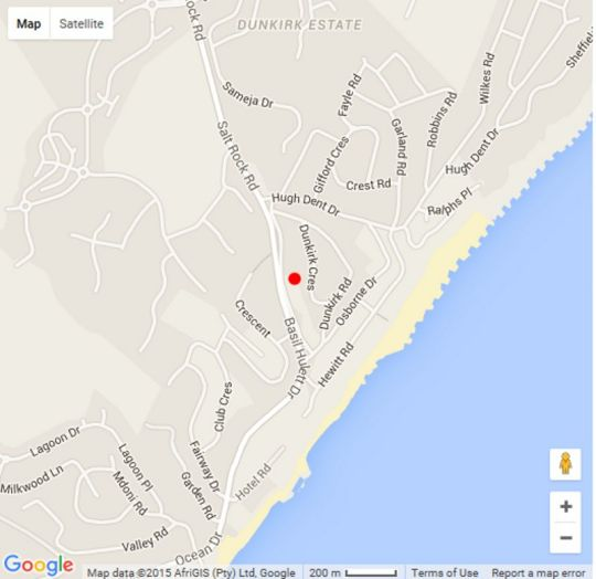 Map Casa Dela Mare\' in Ballito  North Coast (KZN)  KwaZulu Natal  South Africa