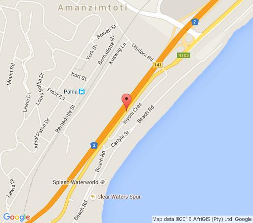 Map The Milkwood Beach Apartments in Amanzimtoti  South Coast (KZN)  KwaZulu Natal  Suid-Afrika
