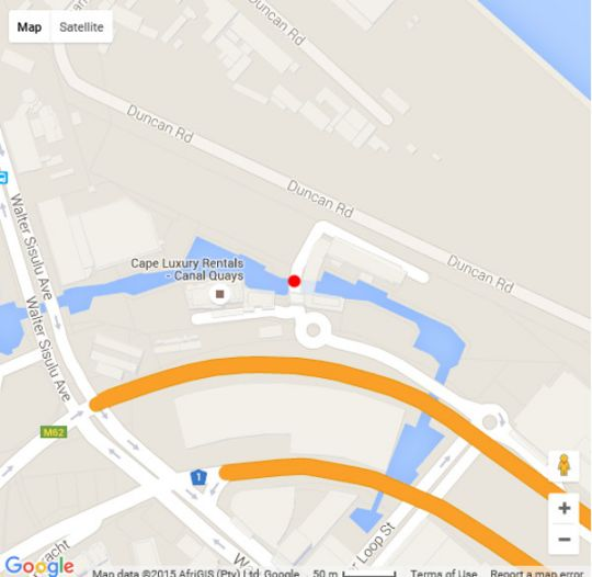 Map 410 Harbour Bridge in Waterfront  City Bowl  Cape Town  Western Cape  South Africa