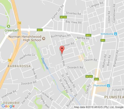 Map Kaya La Provence B&B in Plumstead  Southern Suburbs (CPT)  Cape Town  Western Cape  South Africa