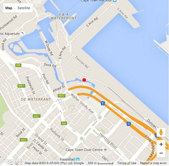 Map 214 Harbour Bridge in Waterfront  City Bowl  Cape Town  Western Cape  South Africa